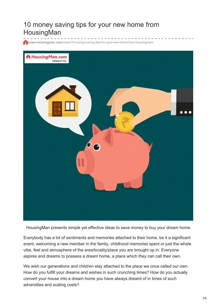 10 money saving tips for your new home from n.