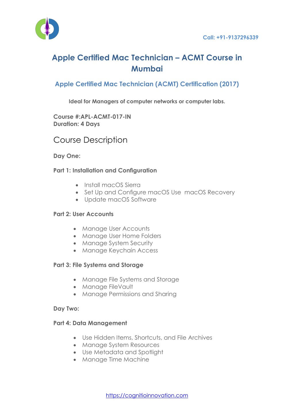 Ppt Apple Certified Mac Technician Acmt Courses In Mumbai
