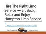 hire the right limo hire the right limo service