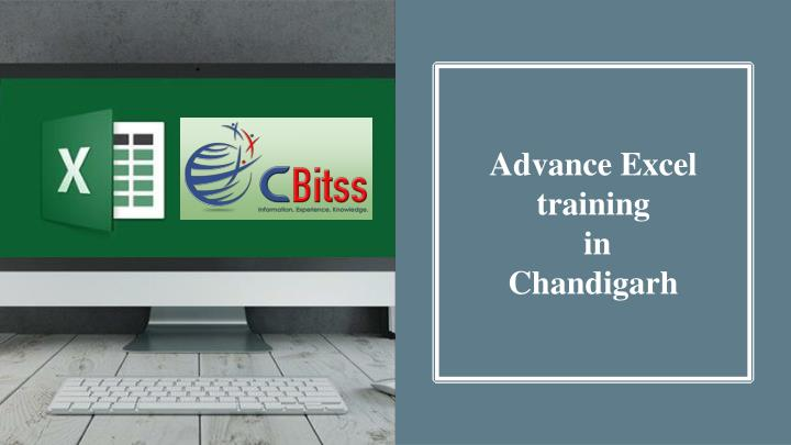advance excel training in chandigarh n.