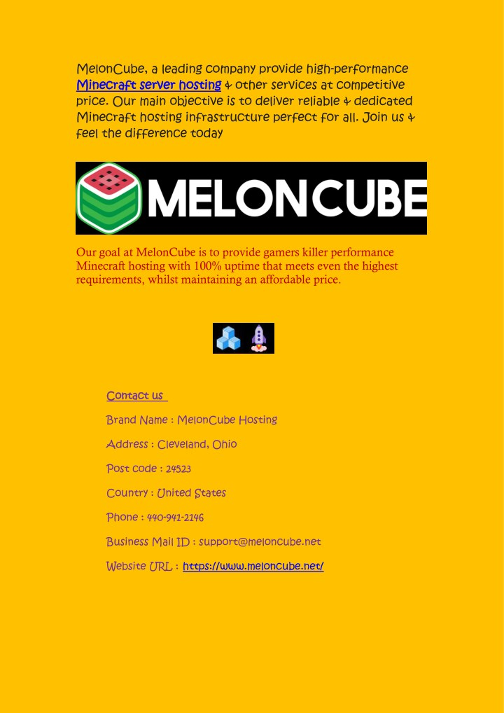 meloncube a leading company provide high n.