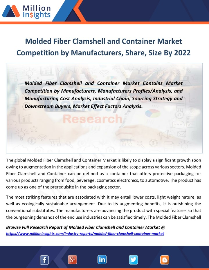 molded fiber clamshell and container market n.