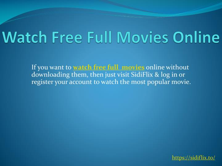 PPT - Free Online Movies Full Movie PowerPoint Presentation