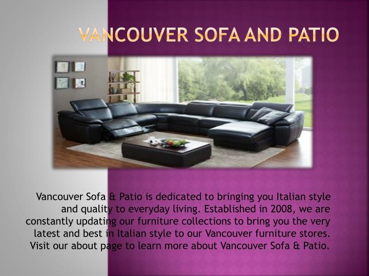 vancouver sofa and patio n.