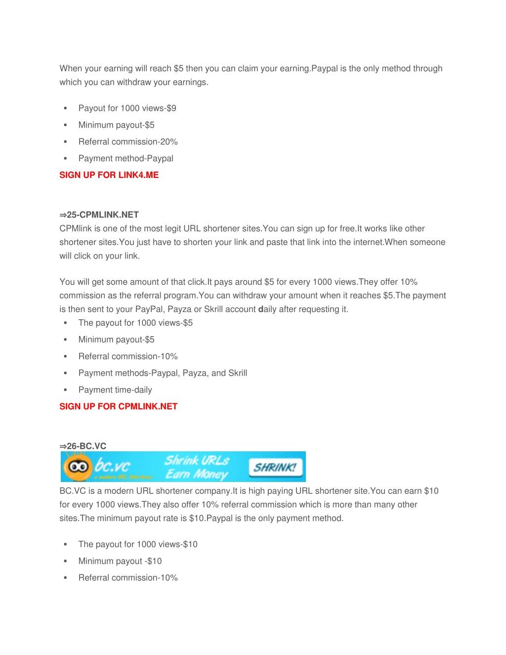 PPT - 30 Highest Paying URL Shortener 2018:Best URL