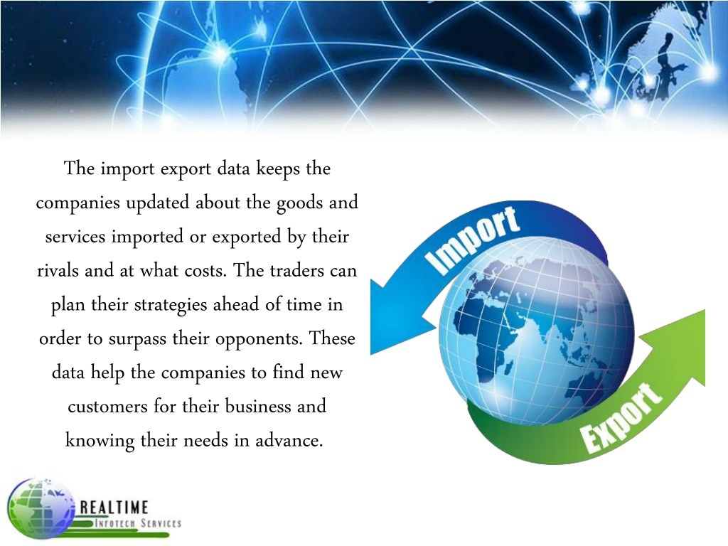 PPT - International Business by Export Import Data