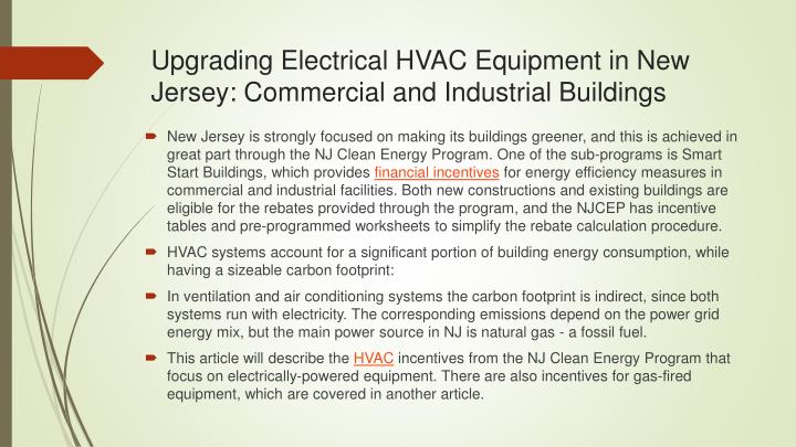 upgrading electrical hvac equipment in new jersey commercial and industrial buildings n.