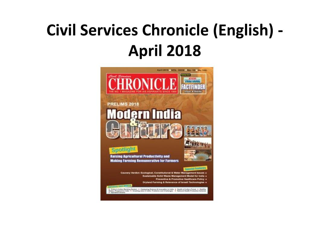 Chronicle Magazine For Civil Services Pdf