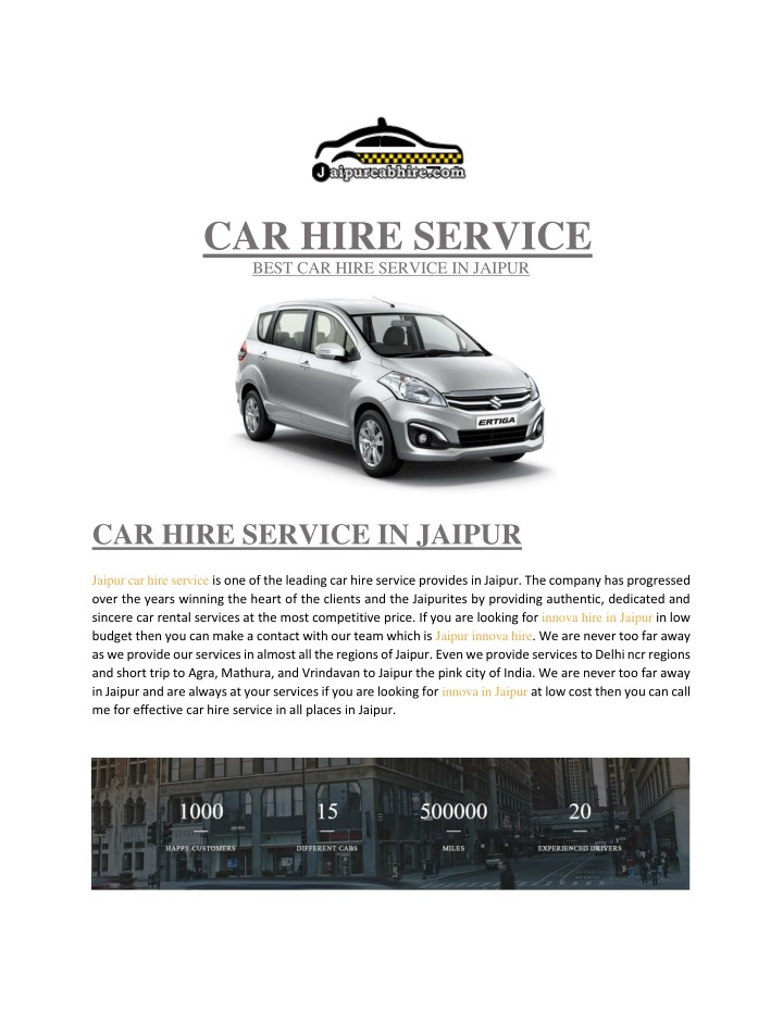 car hire service best car hire service in jaipur n.