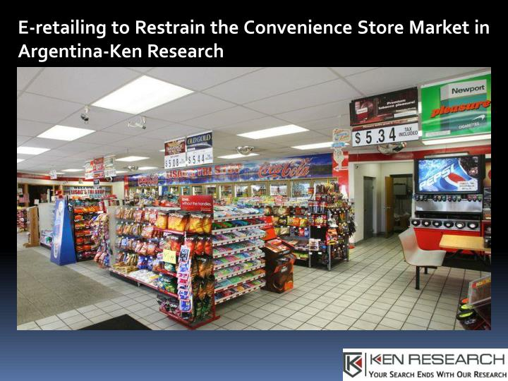 e retailing to restrain the convenience store n.