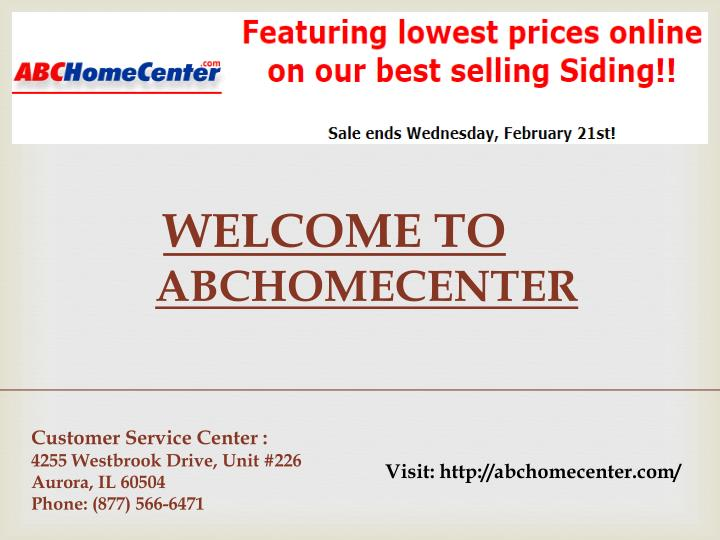welcome to abchomecenter n.
