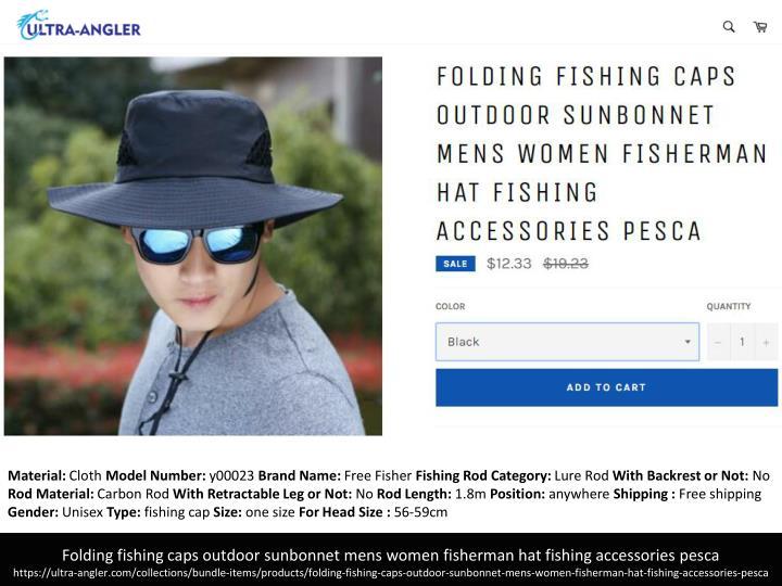 d3eec46ac2de0 PPT - 6 Color folding fishing hats outdoor sunbonnet for mens women ...