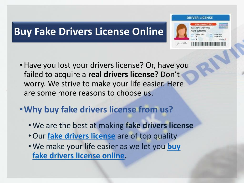 PPT - Buy Fake Drivers License Online
