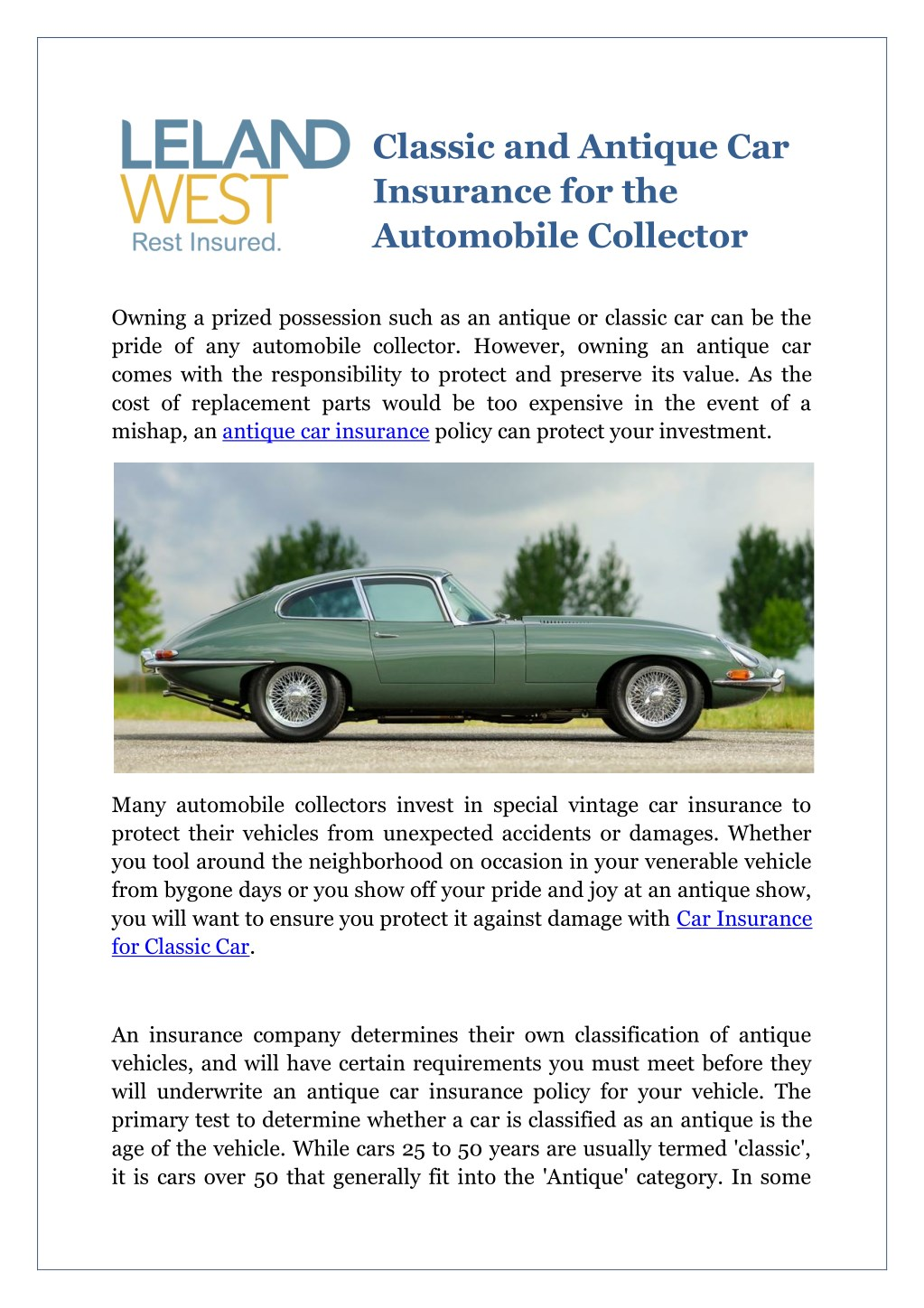 Ppt Classic And Antique Car Insurance For The Automobile Collector Powerpoint Presentation Id 7819753