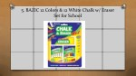 5 bazic 12 colors 12 white chalk w eraser