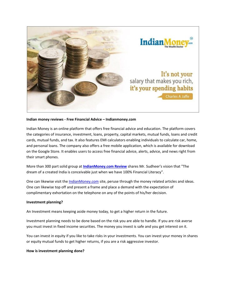Ppt Indian Money Reviews Free
