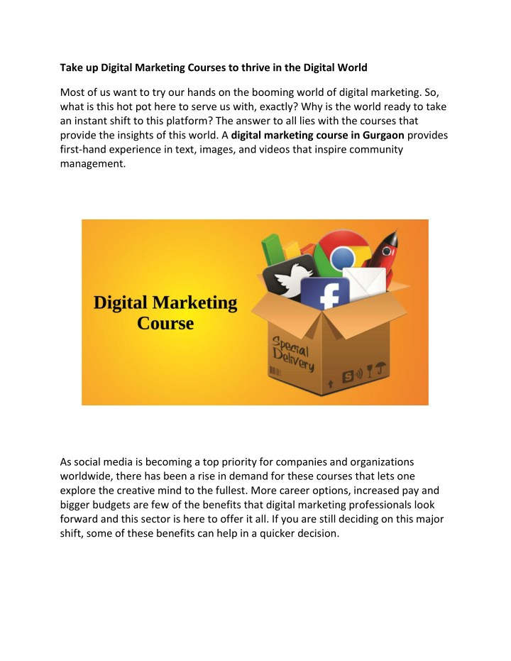 take up digital marketing courses to thrive n.
