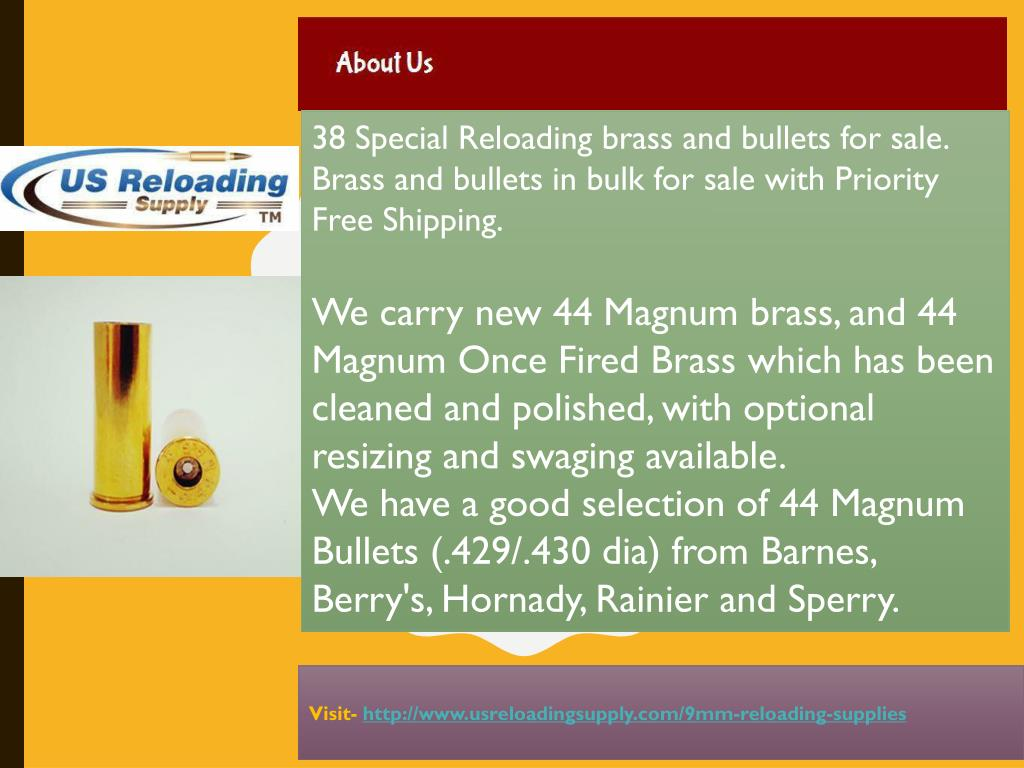 PPT - 38 Special Bullets for Reloading PowerPoint