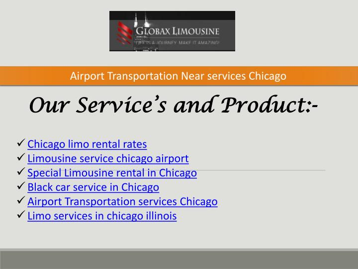 airport transportation near services chicago n.