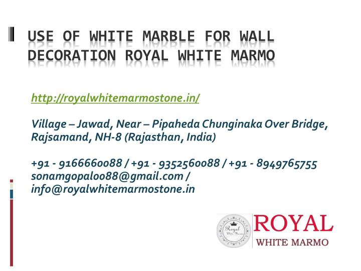 use of white marble for wall decoration royal white marmo n.