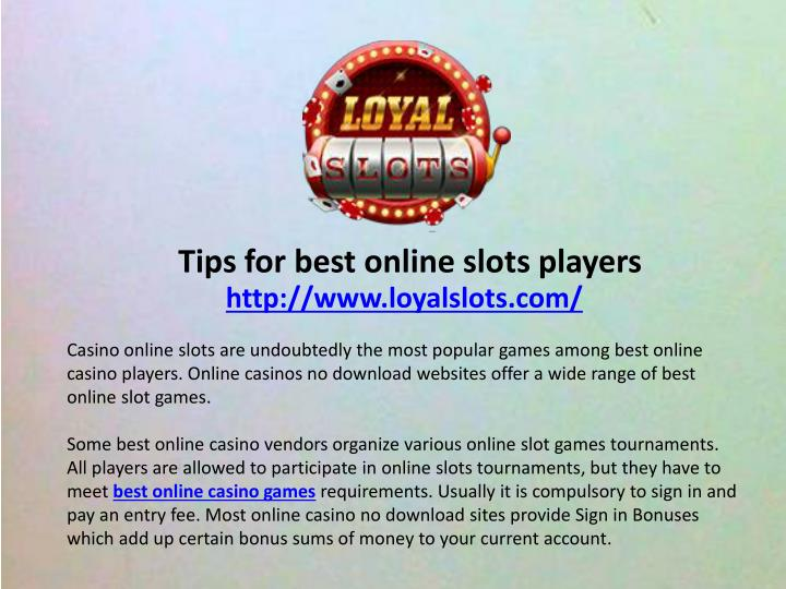tips for best online slots players n.
