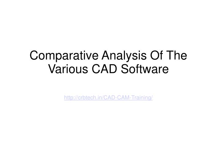 comparative analysis accounting
