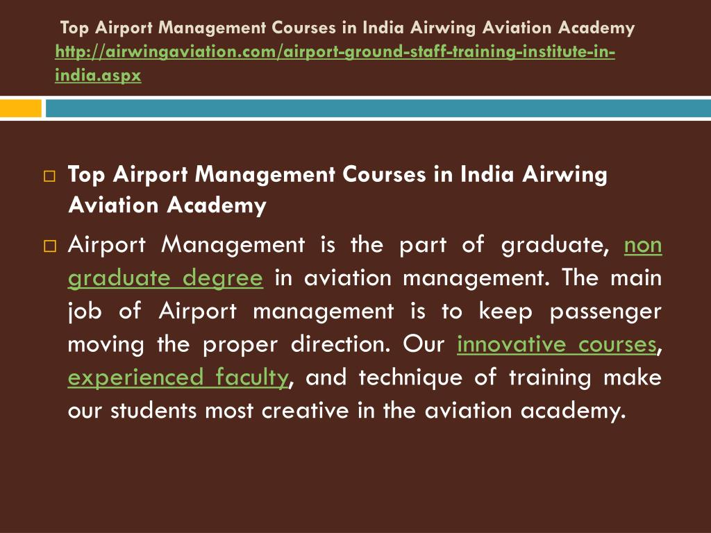 PPT - Top Airport Management Courses in India Airwing