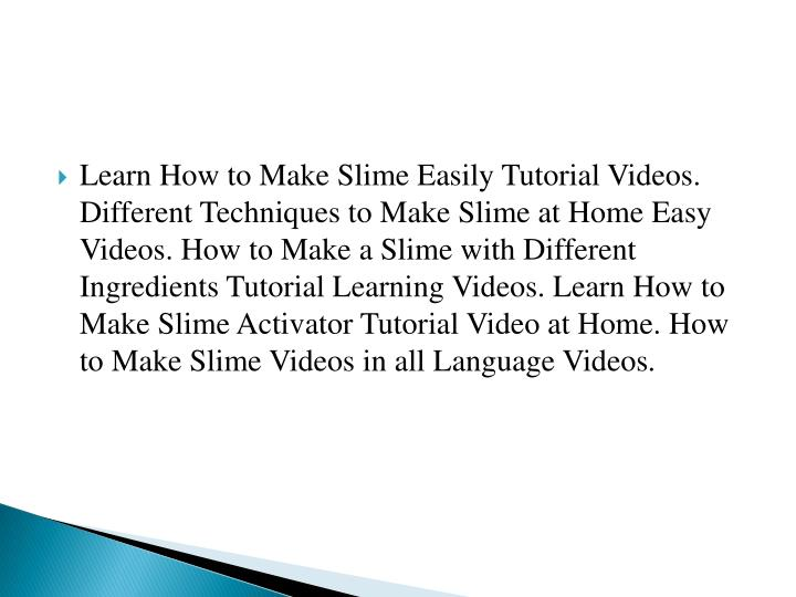 Ppt how to make slime step by step different methods of slimes learn how to make slime easily tutorial videos ccuart Gallery