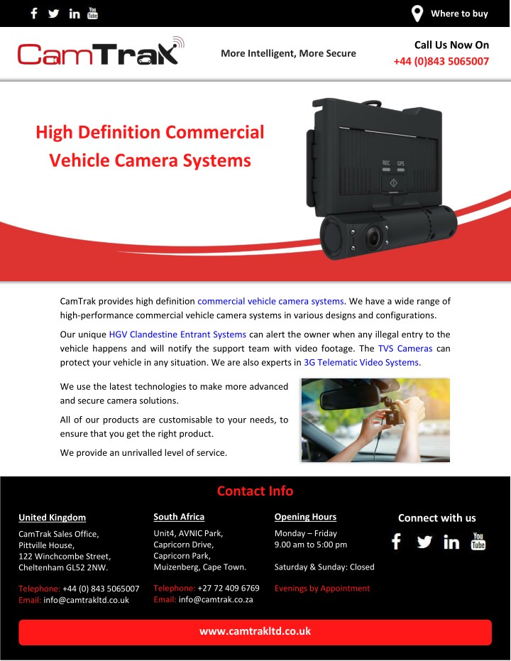 Commercial Vehicle Definition >> Ppt High Definition Commercial Vehicle Camera Systems