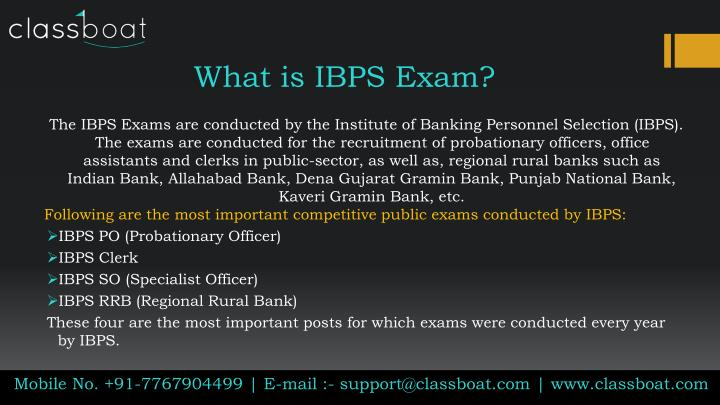 what is ibps exam n.
