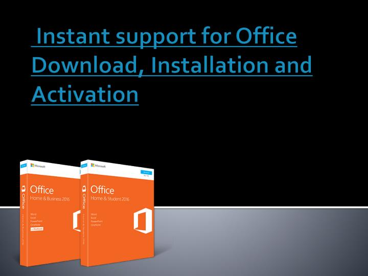 instant support for office download installation and activation n.