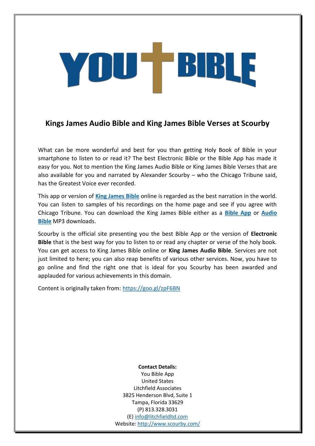 Download bible app or king james audio bible to listen to your.