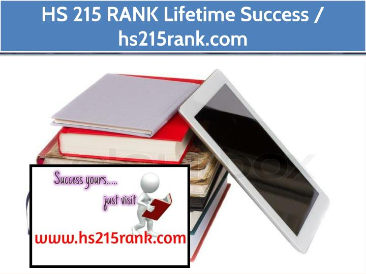 hs 215 rank lifetime success hs215rank com n.
