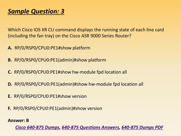 PPT - 2018 640-875 Real Exam Questions - Cisco 640-875