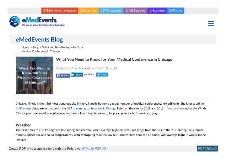 PPT - What You Need to Know for Your Medical Conference in