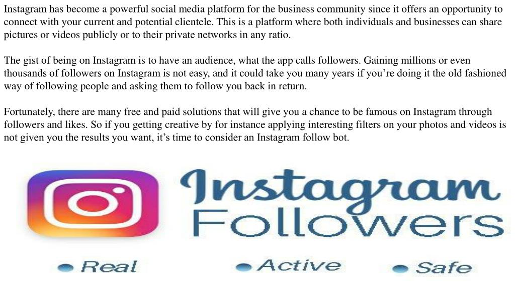 PPT - Gain More Followers on Instagram with an Automatic Followers