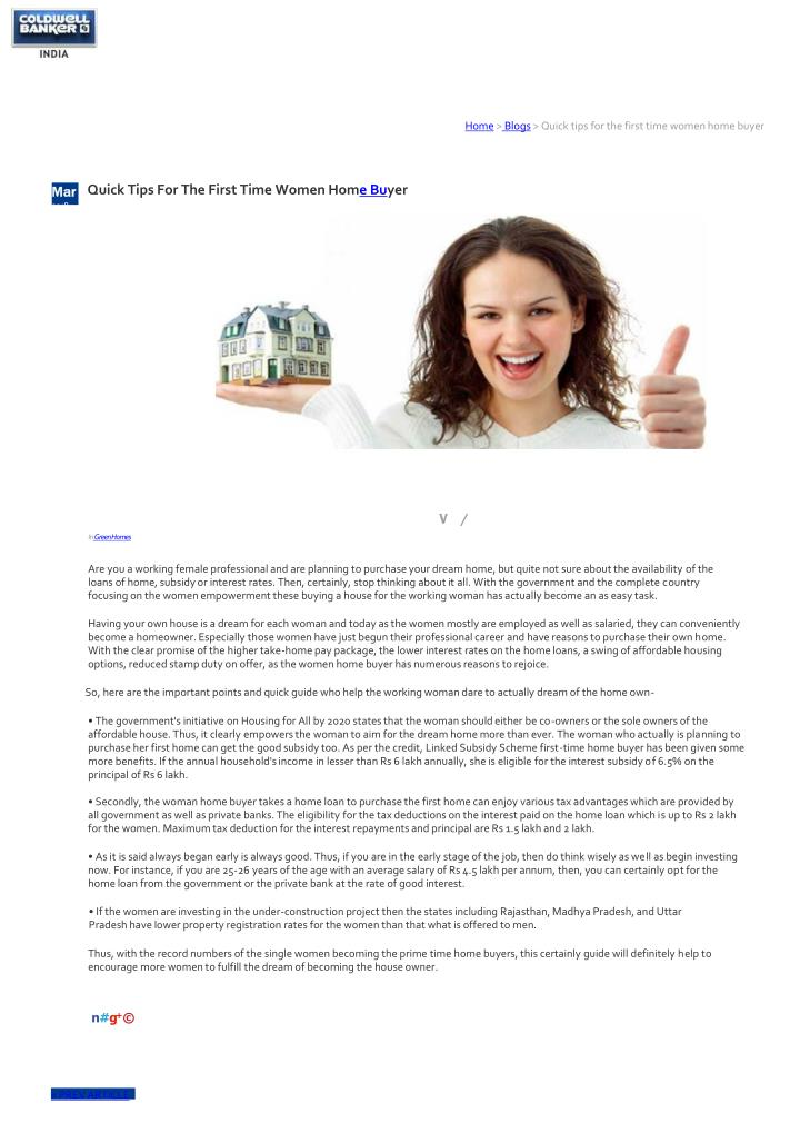home blogs quick tips for the first time women n.