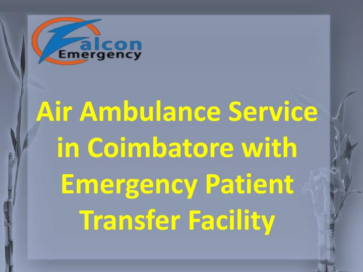air ambulance service in coimbatore with n.