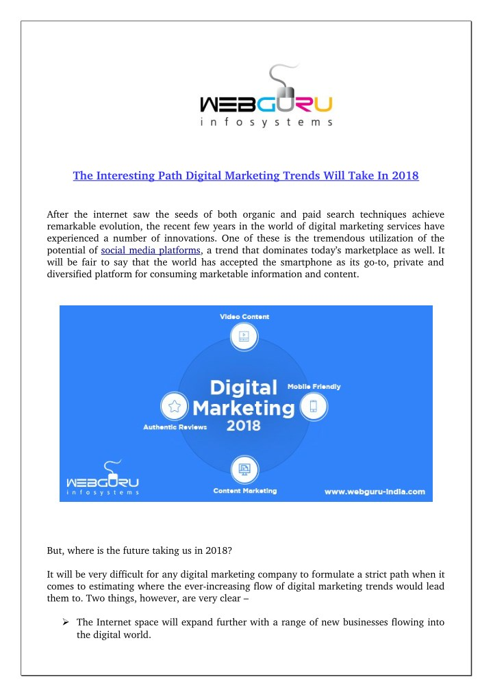 the interesting path digital marketing trends n.