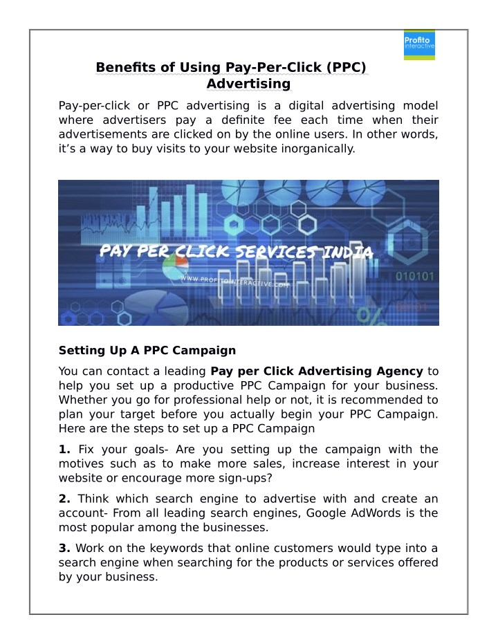 benefits of using pay per click ppc advertising n.