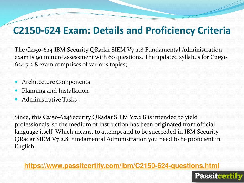PPT - C2150-624 IBM Security QRadar Exam Dumps PowerPoint