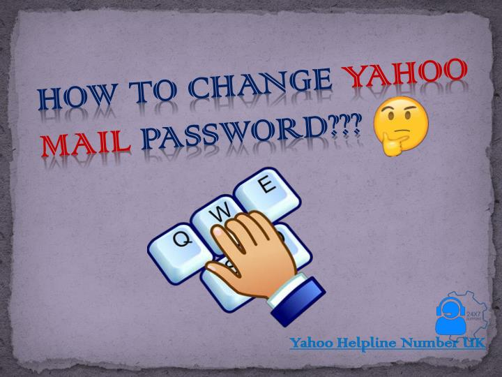 how to change yahoo mail password n.