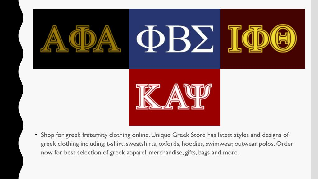 PPT - Greek Fraternity Clothing, Apparel & Gifts Online – Unique