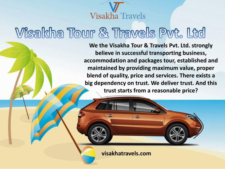 we the visakha tour travels pvt ltd strongly n.