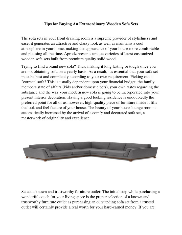 tips for buying an extraordinary wooden sofa sets n.