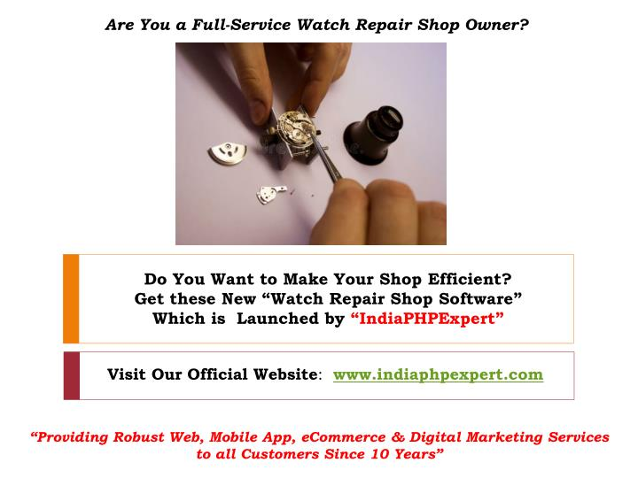 are you a full service watch repair shop owner n.