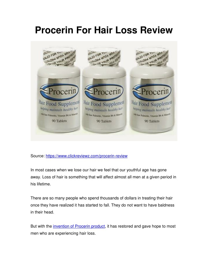 procerin for hair loss review n.