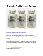 procerin for hair loss review