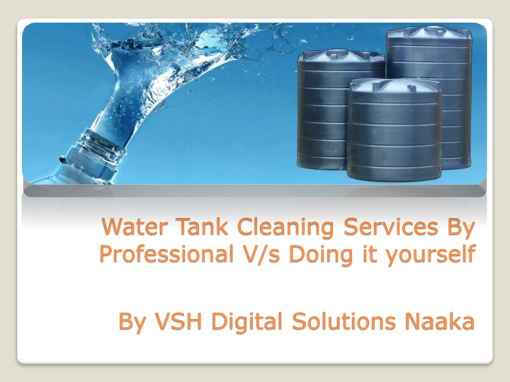 water tank cleaning services by professional n.