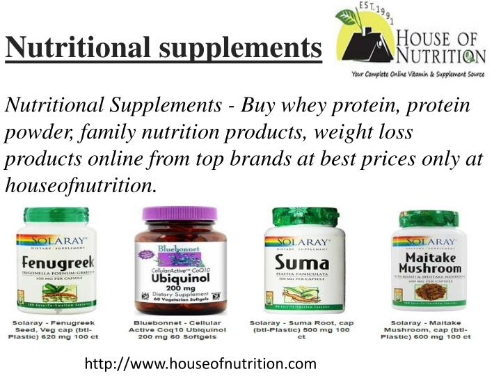 nutritional supplements n.
